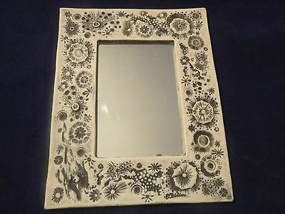 E.c. Brinkman Black & White Mirror Sea Urchins Cover The Surface Of The Frame