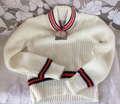Boy Unisex Size 6 Vintage 1950s 1960s Penny's Orlon Sweater Cardigan w/ Tags