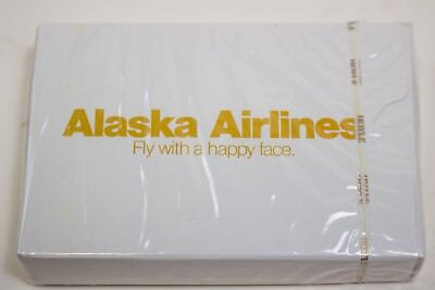ALASKA AIRLINES VTG Hoyle PLAYING CARDS FLY WITH A HAPPY FACE SEALED