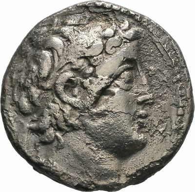 Ancient Greece 129-125BC Demetrius II Nicator Large Silver Tetradrachm #2