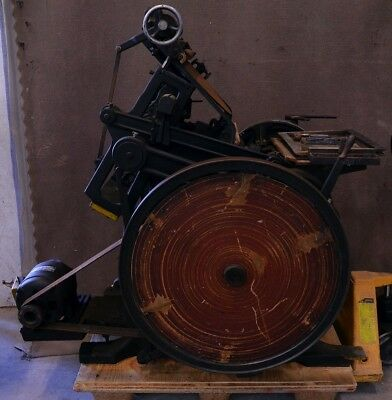 Antique Vintage Kluge Letter Printing Press Manual w/ Motor