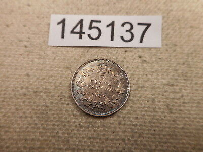 1906 Canada Five Cents Silver Higher Grade - Better Date Coin - # 145137 Raw
