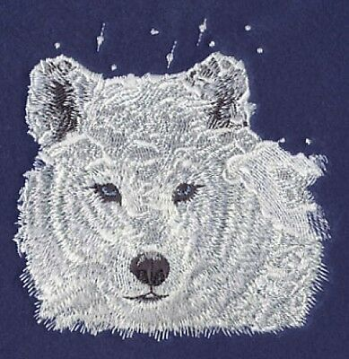 Embroidered Short-Sleeved T-Shirt - Winter Wolf M1238 Sizes S - XXL