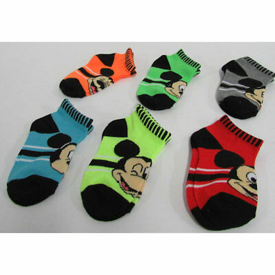Animals Disney's Mickey Mouse Socks 6 Pairs - Size 2-4
