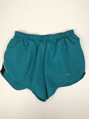 NIKE Dri-Fit Women's running shorts size S/Small Teal Green lined athletic