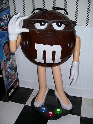 Ms. Brown M&M Candy Collectible Store Display Figurine on Wheels