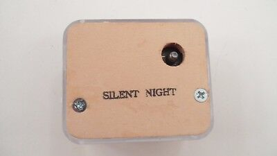 NOS Narco Japan Music Box Mechanism Movement for DIY Crafts Plays Silent Night
