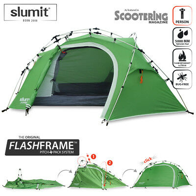 New Quick Pitch 1 Person Instant Erect Lightweight C&ing Tent One Man Berth  sc 1 st  PicClick IT & NEW SLUMIT® CUB Flashframe™ Quick Erect Popup Tent 1 2 Man Person ...
