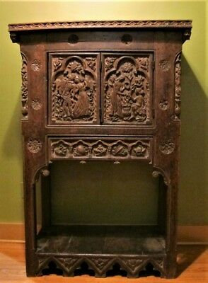 Mueseum-Quality 17th C. ORIGINAL RENAISSANCE Era Oak Cabinet  c. 1650   antique