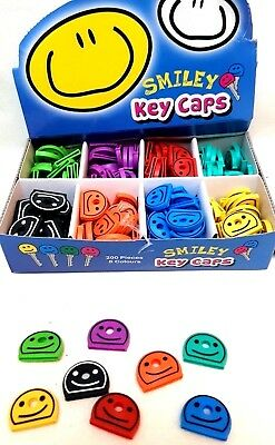 KEY Cap Covers SMILE FACE Colour Code YALE Caps/Tags/ID Markers Mixed Colours