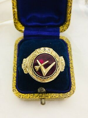 Oldsmobile Vanguard Dieges& Clust Jewellers 10K Gold Ruby Ring - Size 10.75