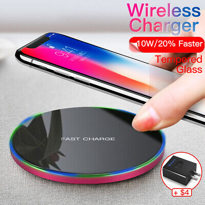 Fast Charging Qi Wireless Charger for Samsung Galaxy S9 Plus S8 S7 Edge Note 9 8