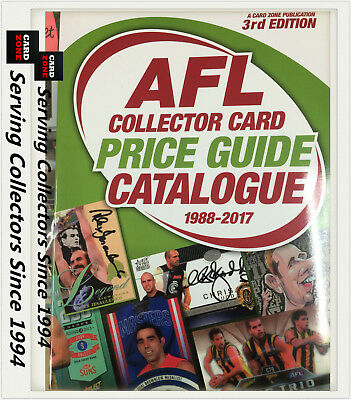 Afl Collector Card Price Guide Catalogue (1988-2017) 3Rd Ed (700 Pages)-Update