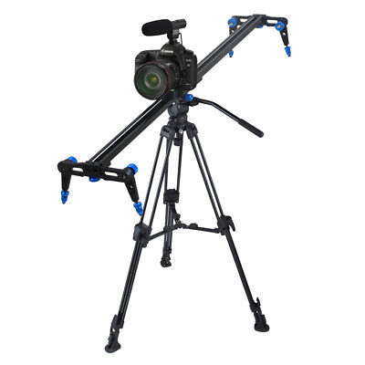 "Aluminium Alloy 40"" Camera Slider DSLR Video DV Track Dolly Rail w/ Stop Break"