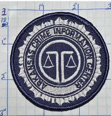 "Arkansas Crime Information Center 3"" Round Patch"