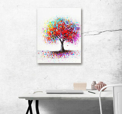 Modern Art Color Flower Tree Oil Painting Print Wall Picture Canvas Home Decor