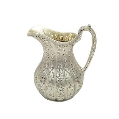 Antique Victorian Sterling Silver Jug - 1856