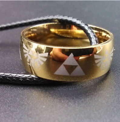 Legend of Zelda Triforce cosplay anime LINK gold ring neclace Free shipping CTS