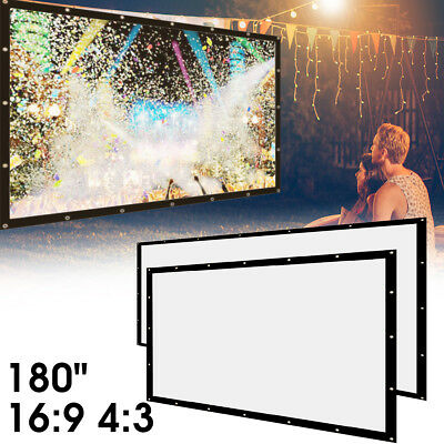 180'' 16:9 4:3 HD Foldable Canvas Fabric Projector Screen Projection Outdoor