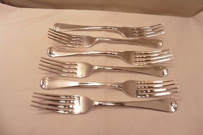 Good Antique  Sterling Silver Set Of Six Old English  Dinner Forks London 1839.