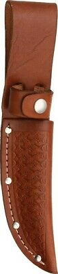 """BROWN Leather SHEATH For Straight Fixed Blade Knife Up To 4"""" Blade SH1133 New!"""