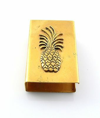Vintage 1930s 40s Leonore Doskow Solid 18K Gold PINEAPPLE Design MATCH BOX COVER