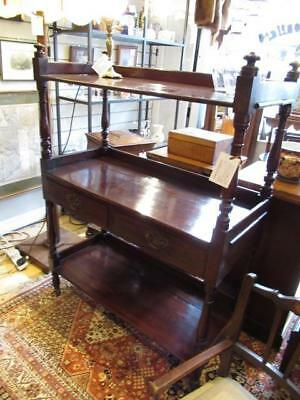 Victorian mahogany Three Tier Buffet Dumbwaiter