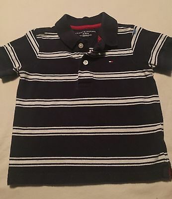 Tommy Hilfiger Boys Short Sleeve Polo Shirt Size 18 Months Blue