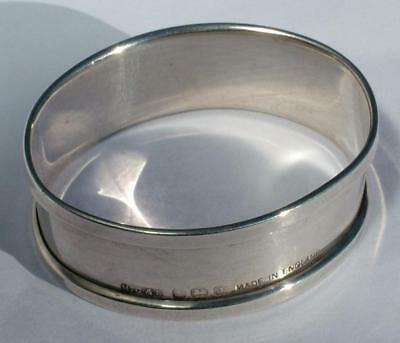 Oval Sterling Silver Napkin Serviette Ring By Henry Griffith 1933 No Engraving