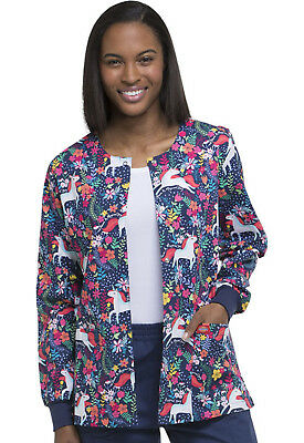 Have A Magical Day Dickies Scrubs EDS Snap Front Warm Up Jacket DK301 HVMA