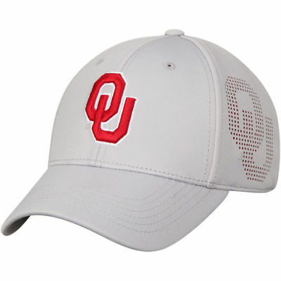 huge discount 67c59 dcd7a Oklahoma Sooners Top of the World Lightrail 1Fit Flex Hat - Gray