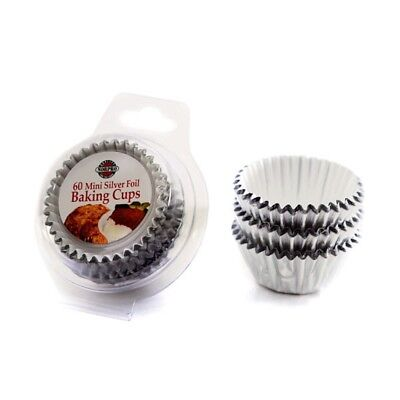 Norpro Silver Foil Baking Cups - Set of 60 Mini Cupcake Liners