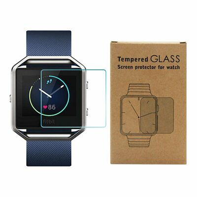Premium 0.2mm Real [Tempered Glass] Screen Protector for Fitbit Blaze
