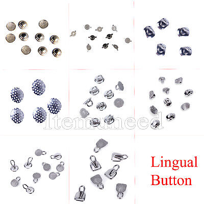 DE 8 Types Dental Orthodontic Lingual Buttons for Dental Use SALE