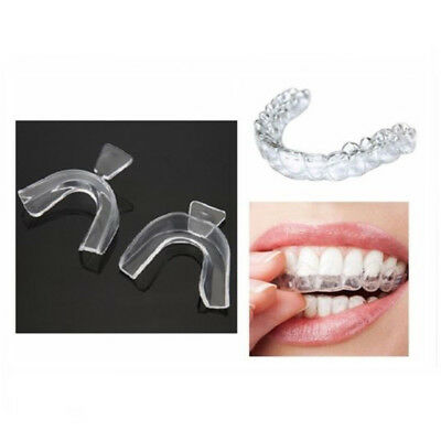 2PCS Thermo-forming Boil & Bite Dental Mouth Trays for Teeth Whitening Gel Kits