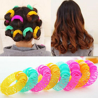 8PCS /Set Magic Spiral Curls Tool Hairdress Bendy DIY Hair Styling Roller Curler