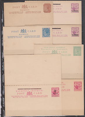 Mauritius 1880's/1900's Collection Post Cards + Photo Copies & Stamps