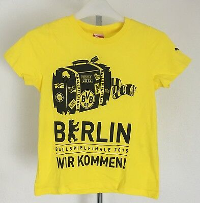 Borussia Dortmund Yellow T-Shirt By Puma Size Boys 7-8  Years Brand New