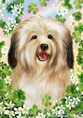 Garden Indoor/Outdoor Clover Flag - Cream Havanese 310971