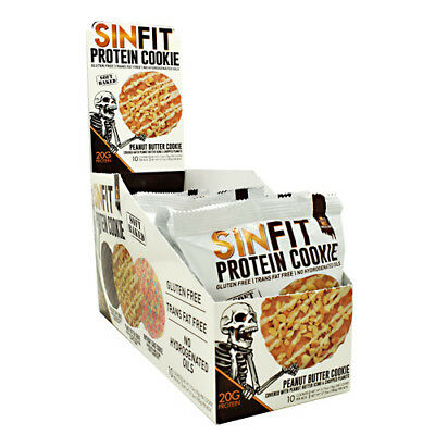 Sinister Labs SINFIT High Protein COOKIE 20g - 10 COOKIES PEANUT BUTTER
