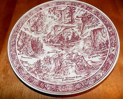 YOSEMITE Vernon Kilns Collector Plate Antique National Park Collector Antiques