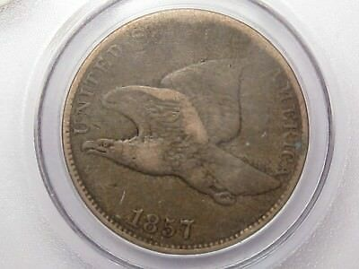 VF 1857 Flying Eagle Small Cent Penny.  #5