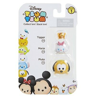 DISNEY 3pc Set TSUM TSUM Collectible Figures TIGGER 149+MARIE 159+PLUTO 112 New!