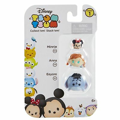 DISNEY 3pc Set TSUM TSUM Collectible Figure MINNIE 104+ANNA 174+EEYORE 157 New!