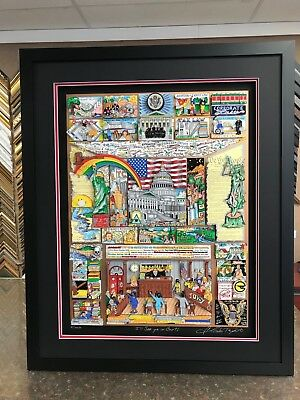 """Charles Fazzino """" I'll See Ya"""" In Court ! """" 3-D Artwork  Signed & Number Framed"""