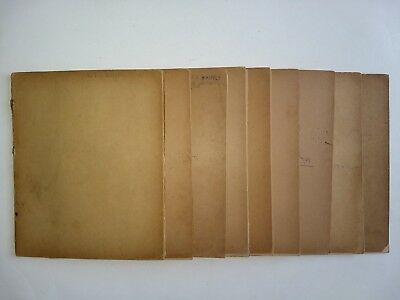 ANTIQUE ARCHIVE-9 HANDWRITTEN DIARIES-Olive Peabody-Essex-Nahant-Salem-MA-1900
