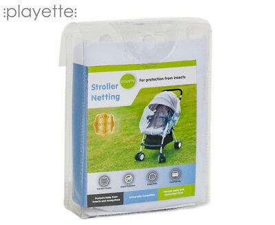 Playette Stroller Netting - White