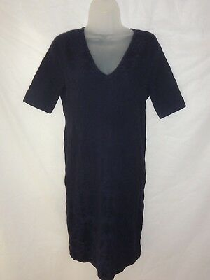 A Pea In The Pod Maternity Dress Fitted Navy Sz  Medium