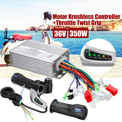 350W 36V Motor Sctooter Brushless Controller Line Throttle Twist Grip With Keys