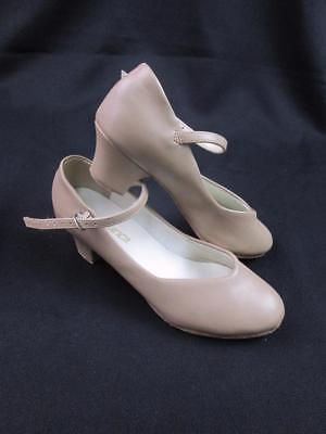 So Danca Ch50 M3L Tan/Caramel Character Theater Dance Shoes Mary Jane Heels Euc